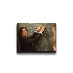 Mathematician at a chalkboard